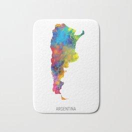 Argentina Watercolor Map Bath Mat