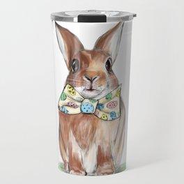 Easter Bunny wearing Bow Tie Travel Mug