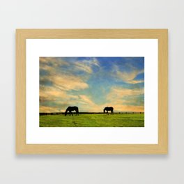 Sunrise Graze Framed Art Print