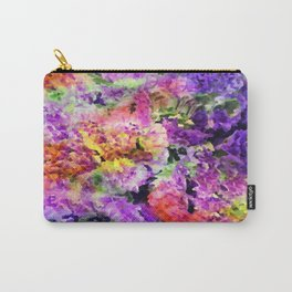 Elegant Rainbow Floral Abstract Carry-All Pouch