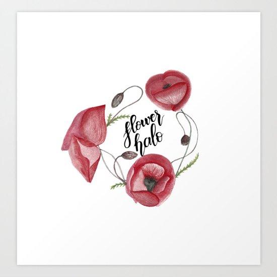 Flower halo Art Print