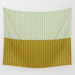 Color Block Lines XXI Moss Wall Tapestry