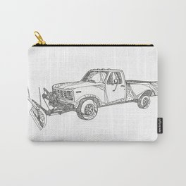 Snow Plow Truck Doodle Art Carry-All Pouch