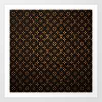 lv Art Prints featuring LV Pattern by Veylow