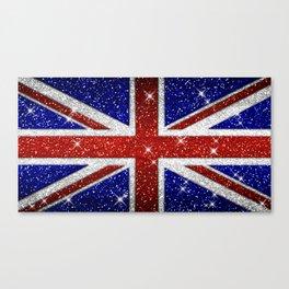 Glitters Shiny Sparkle Union Jack Flag Canvas Print