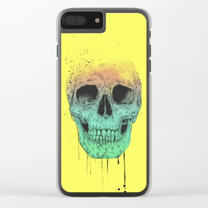 Pop art skull Clear iPhone Case