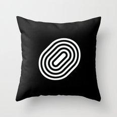 Stripey pill shape Throw Pillow