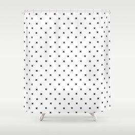 Simple Cross Shower Curtain