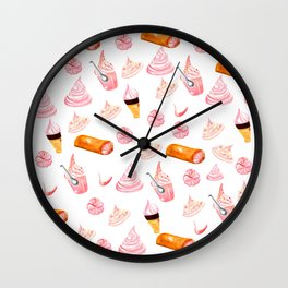 sweet merengues Wall Clock