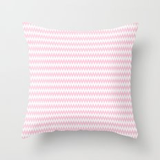 Pink Zigzag Design Throw Pillow