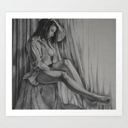 Thoughtful Shadows Art Print