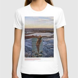 Peace Love & Skipping Stones Vintage Hippie Collage T-shirt