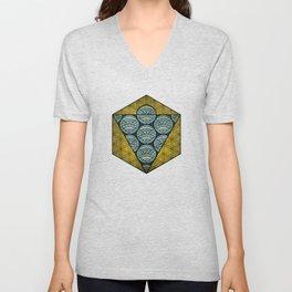 Sacred Geometry - Octahedron Air Unisex V-Neck