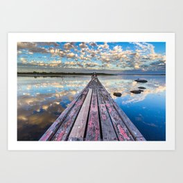 Pelican Jetty Art Print