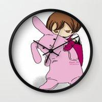 kawaii Wall Clocks featuring kawaii by Grim99