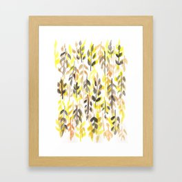 170418 Leaves Watercolour 11 Framed Art Print