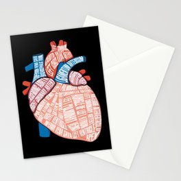 Anatomical Heart - For Cardiac Nurse Cardiologists Stationery Cards