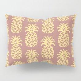 Mid Century Modern Pineapple Pattern Yellow and Brown Pillow Sham