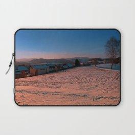 A winter wonderland sundown   landscape photography Laptop Sleeve