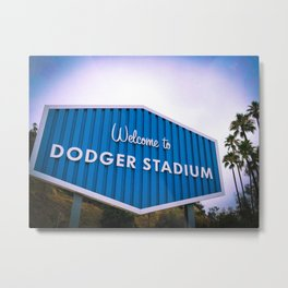 Welcome to Dodger Stadium | Los Angeles California Nostalgic Iconic Sign Sunset Art Print Tapestry Metal Print