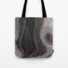 Chocolate colored Agate Crystals Tote Bag
