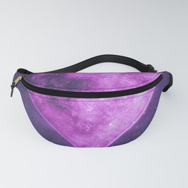 Heart symbol. Playing card. Abstract night sky background Fanny Pack
