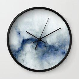 Indigo Abstract Painting | No.3 Wall Clock