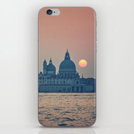 sunset at Venice under construction iPhone Skin