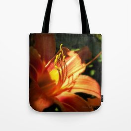 Orange Lilly  Tote Bag