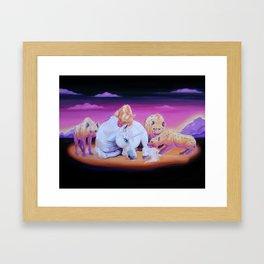Unicorns For Dinner Framed Art Print