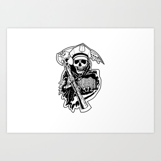 The Street Reaper Art Print