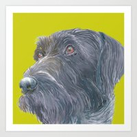 Pointer printed from an original painting by Jiri Bures Art Print