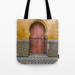 Morrocan Door and Tile Work Tote Bag