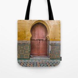Morrocan Door and Tile Work Tote Bag