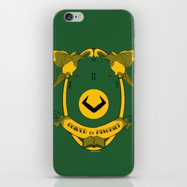 Guided by Mischief - Loki's Army Crest iPhone Skin