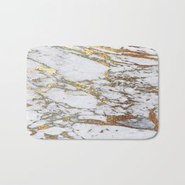 Gold Marble Bath Mat