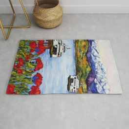 Northwest Commute with Ferry Boats Rug