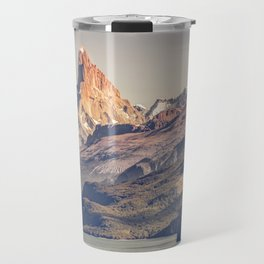 Fitz Roy and Poincenot Andes Mountains - Patagonia - Argentina Travel Mug