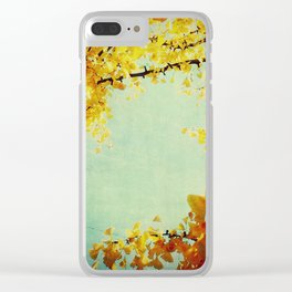 Gingko Branches Clear iPhone Case