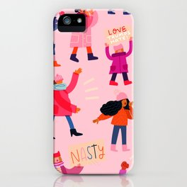 Marching Together: Pink iPhone Case