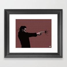Kittappa Series - Red Framed Art Print