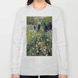 """Auguste Renoir """"Femme avec parasol dans un jardin"""" Long Sleeve T-shirt"""