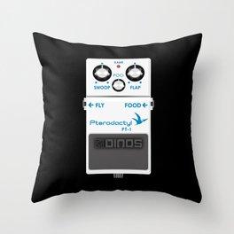Pterodactyl Delay Pedal Throw Pillow