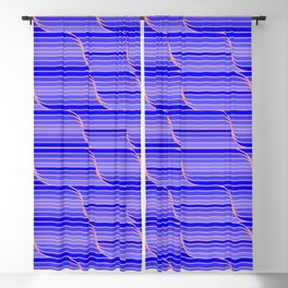 Geo Stripes - Cobalt Blue Blackout Curtain
