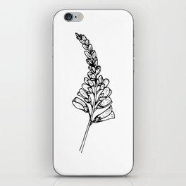 Foxglove Ink Drawing iPhone Skin