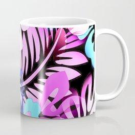 Hawaiian Flowered Shirt Print Pink Blue Coffee Mug