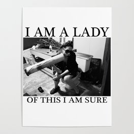 I Am A Lady Of This I Am Sure Poster