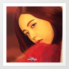 Jisoo - Black Pink (Square Two) Art Print