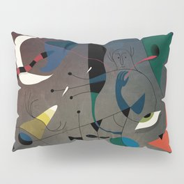 Miró's Ghost Wakes Up from a Bad Reality Pillow Sham