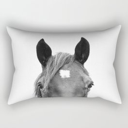 Peeking Horse Rectangular Pillow